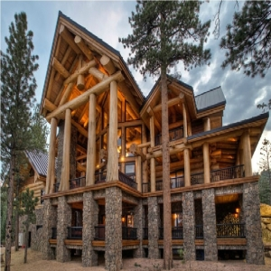 Projects of log homes bigger than 500 m2.