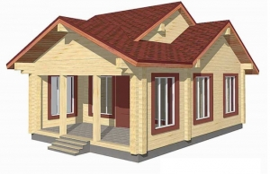 Timber houses up to 100 m2.